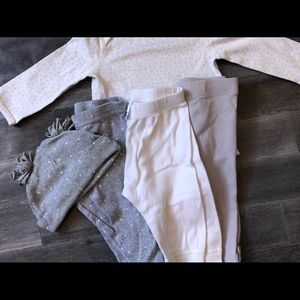 Hanna Andersson onesie with matching pants